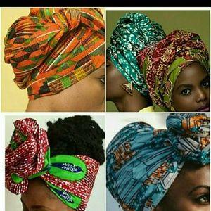 Trendy African Wax head tie/wrap /scarf /turban